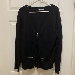 Reitman's black cardigan